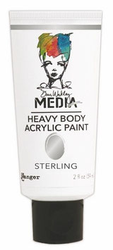 Dina Wakley Media Line Heavy Body Acrylic: Sterling
