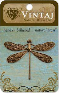 Vintaj Natural Brass Ornate Dragonfly