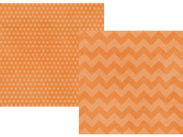 Simple Stories Daily Grind: Orange Chuncky Chevron/Dots