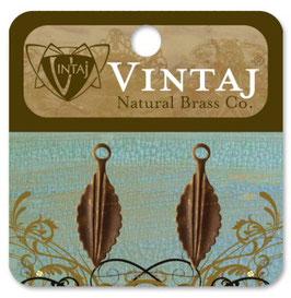 Vintaj Natural Brass Persica Leaf