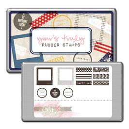 Glitz Design Yours Truly Stamp Set