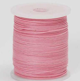 Pale Pink waxed cord