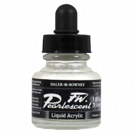 DR Pearlescent Acrylic Ink - White Pearl