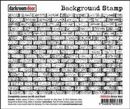 Darkroom Door Background Stamp: Brick Wall