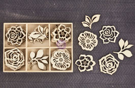Prima Wood Icons In A Box: Flowers/Lv