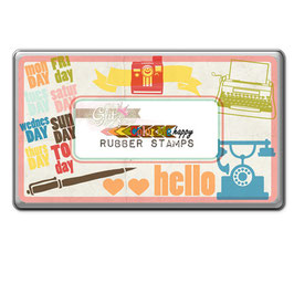 Glitz Design: Color Me Happy Rubber Stamps Tin