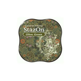 StazOn Midi Ink Pad: Olive Green
