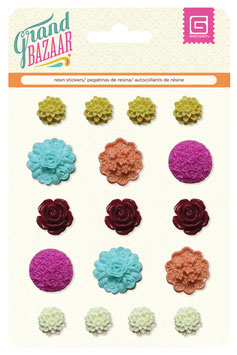 BasicGrey Grand Bazaar Resin Flowers