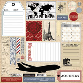 Teresa Collins Far & Away 12x12 Die Cut Sheet