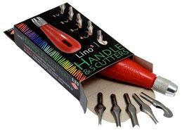 Lino Cutter 5 blades & handle