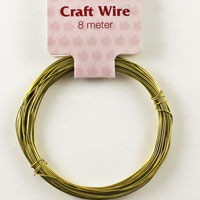 Craft Wire 24 gauge (0.5mm) - Gold