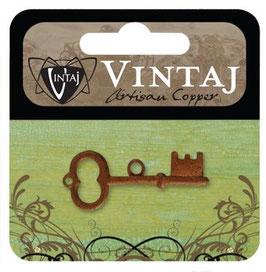 Vintaj Artisan Copper Archival Key