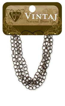 Vintaj Natural Brass 3.5mm Extra Fine Oval Chain