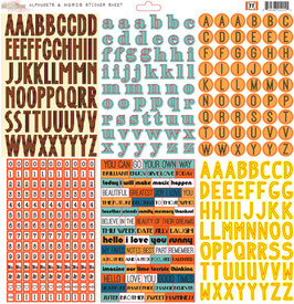 Glitz Design 77 Alpha & Words Stickers