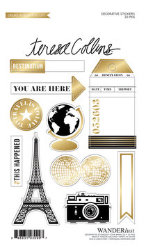 Teresa Collins Wanderlust Decorative Sticker Sheet