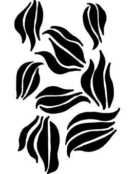 Dina Wakley Media Stencil: Swirls