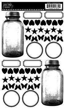 Jenni Bowlin Rub-Ons: Canning Jar Fun