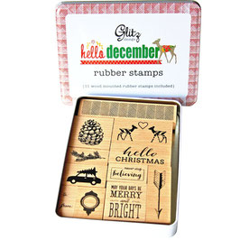 Glitz Design Hello December Stamp Tin