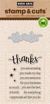 Hero Arts Thanks Stamp & Cut