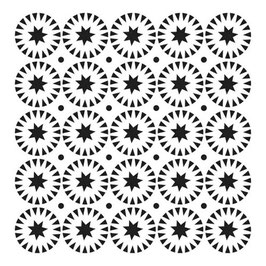 Julie Fei-Fan Balzer Stencil: 6x6 Stars & Circles