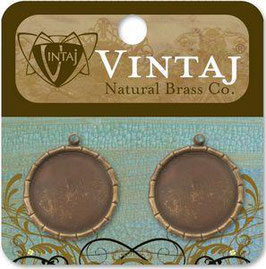 Vintaj Natural Brass 21mm Bamboo Bezel