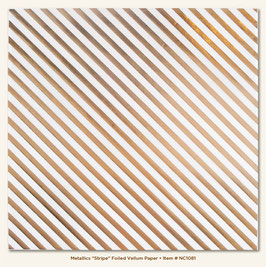 MME Necessities Metallic Striped Foiled Vellum Paper