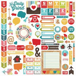 Simple Stories Daily Grind: Fundamentals Cardstock Stickers