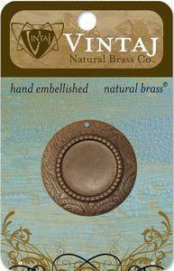 Vintaj Natural Brass 30mm Petite Rosemal Bezel