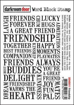 Darkroom Door Unmounted Word Block Stamp: Friendship