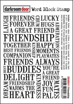 Darkroom Door Word Block Stamp: Friendship
