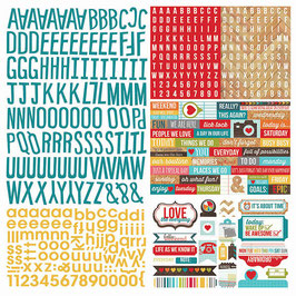 Simple Stories Daily Grind: Expressions Cardstock Stickers