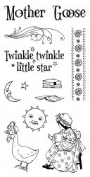 Graphic 45 Mother Goose Cling Stamps Set 1