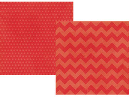 Simple Stories Daily Grind: Red Chuncky Chevron/Dots