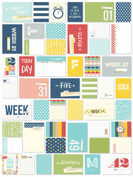Simple Stories Life Documented Week-In-Review Card Set