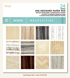 MME Necessities Wood 6x6 Paper Pad