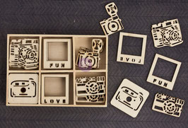 Prima Wood Icons In A Box: Cameras (9846)