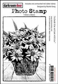 Darkroom Door Photo Stamp - Flower Basket