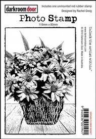 Darkroom Door Photo Stamp - Flower Basket