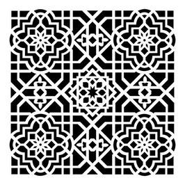 Rhonda Palazzari 12x12 Stencil: TCW393 Ceiling Tile