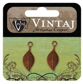 Vintaj Artisan Copper Spring Green Leaf