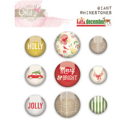 Glitz Design Hello December Giant Rhinestones