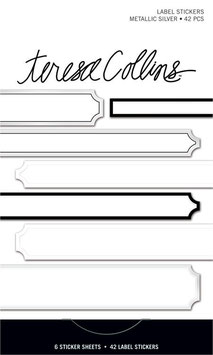 Teresa Collins Signature Essentials Matchbook Stickers:  Metallic Silver