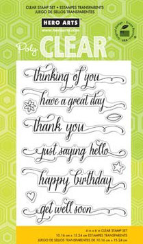 Hero Arts Clear Stamps: Message With Flourish CL738