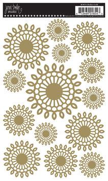 Jenni Bowlin Rub-On's: Gold Doilies