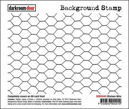Darkroom Door Background Stamp: Chicken Wire