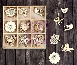 Prima Wood Icons In A Box: Birds & Owls