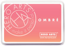 Hero Arts Ombre Ink Pad: Light to Dark Peach