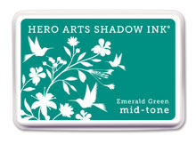 Hero Arts Emerald Green Mid Tone Shadow Ink Pad