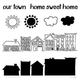Rhonda Palazzari Stencil: TCW386 Home Sweet Home