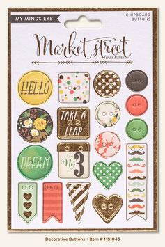 MME Market Street - Nob Hill Chipboard Buttons